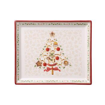 Winter Bakery Delight Rect. cake platter small 27x22,5cm