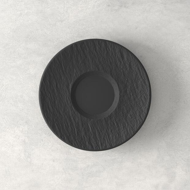 Manufacture Rock spodek do filiżanki do kawy, czarny/szary, 15,5 x 15,5 x 2 cm, , large