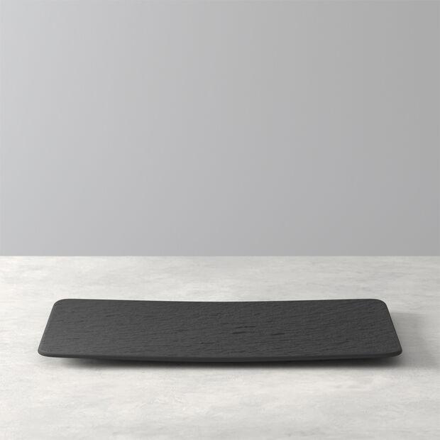 Manufacture Rock prostokątny talerz wielofunkcyjny, czarny/szary, 28 x 17 x 1 cm, , large