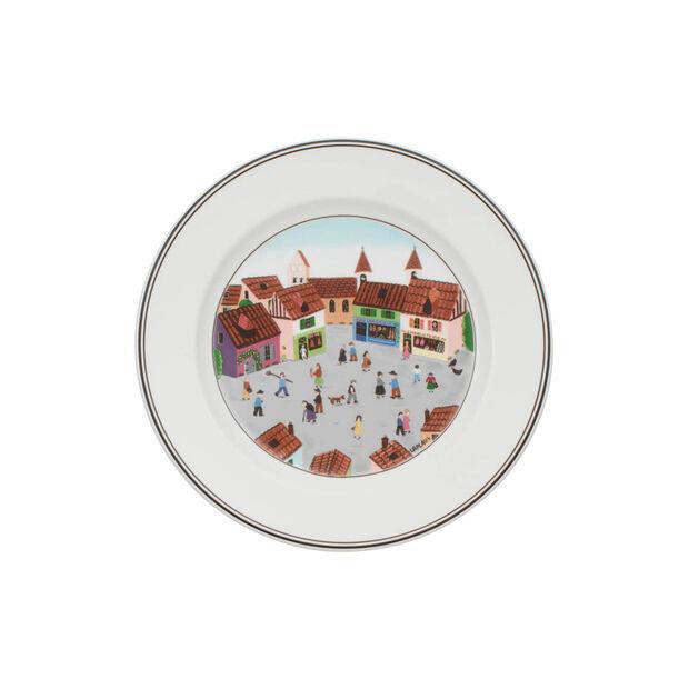 Design Naif talerz śniadaniowy wioska, , large