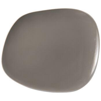 Organic Taupe talerz płaski, brązowoszary, 28 x 24 x 3 cm