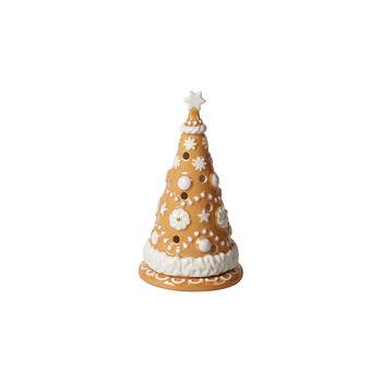Winter Bakery Decoration mała choinka z piernika, brązowy/biały, 8 x 8 x 15 cm