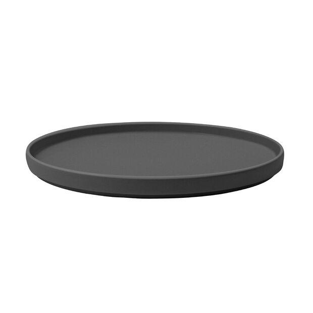 Iconic talerz uniwersalny, czarny, 24 x 2 cm, , large