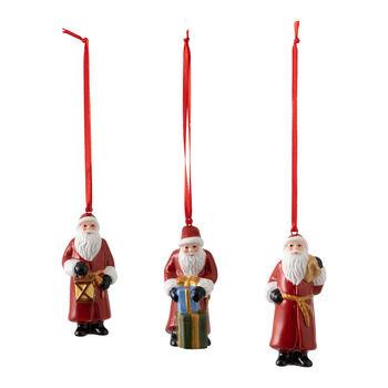 Nostalgic Ornaments zestaw ozdób św. Mikołaj, 8 x 3,5 cm, 3-częściowy