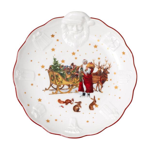 Toy's Fantasy miska z wypukłym wzorem św. Mikołaja nostalgia, kolorowa/czerwona/biała, 24 x 25 x 4,6 cm, , large