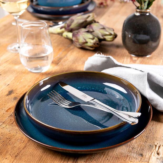 Crafted Denim talerz śniadaniowy, niebieski, 21 cm, , large
