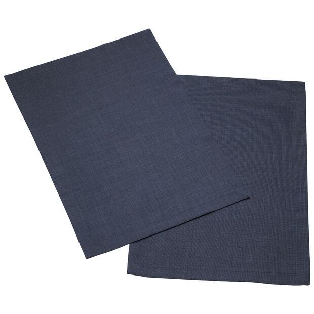 Textil Uni TREND podkładka antyczny błękit zestaw 2-częściowy 35x50cm, , large