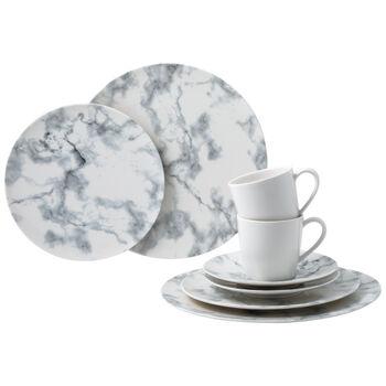 Marmory zestaw łączony White, biały, 8-częściowy