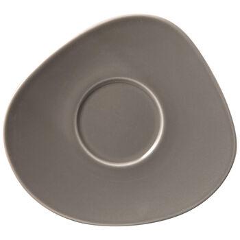 Organic Taupe spodek do filiżanki do kawy, brązowoszary, 17,5 x 16 x 2 cm