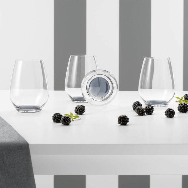 Colourful Life Cosy Grey zestaw szklanek do koktajli/wody 4-częściowy, , large