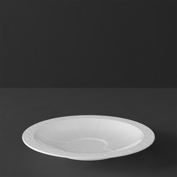 White Pearl spodek do filiżanki do kawy/herbaty, , large