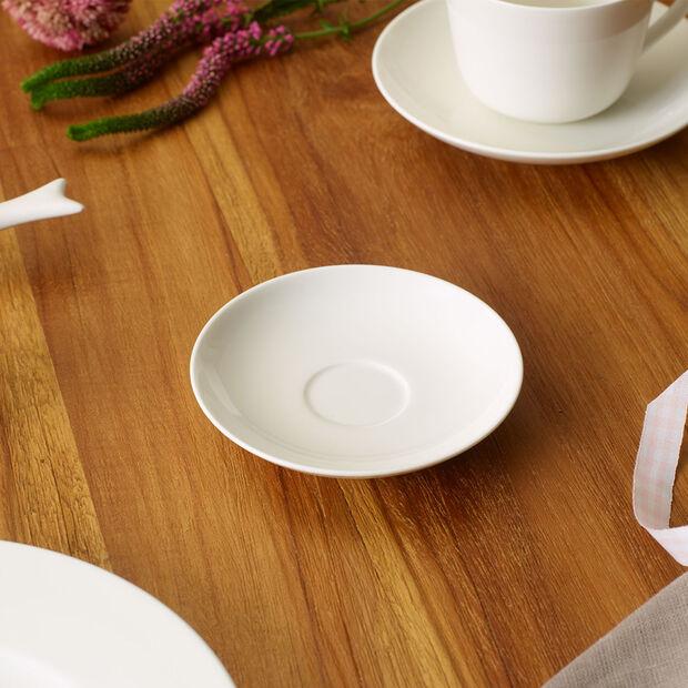Twist White spodek do filiżanki do espresso, , large