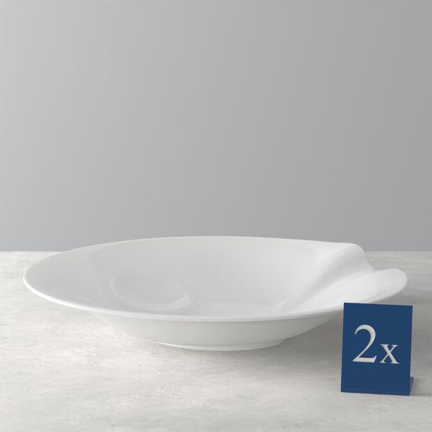 Pasta Passion Zestaw Talerz do Spaghetti 2 Sztuki 30,7x26,3x5,7cm, , large