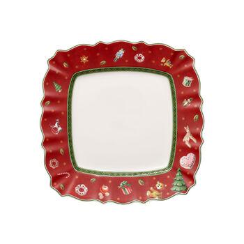 Toy's Delight Talerz sałatkowy czerwony sq. 24cm