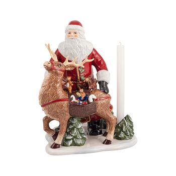 Christmas Toys Memory św. Mikołaj z jeleniem, 30 x 24 x 35cm