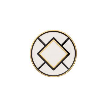MetroChic podstawka, średnica 11 cm, biało-czarno-złota