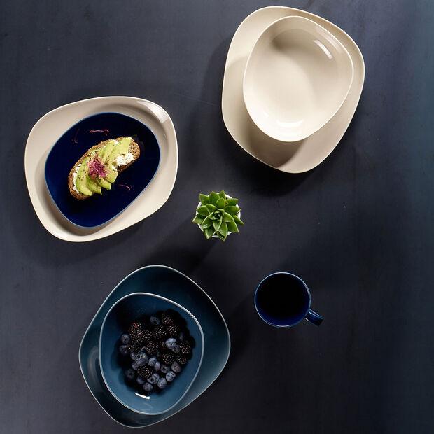 Organic Talerz śniadaniowy, 2-częściowy, niebieski/beżowy, , large
