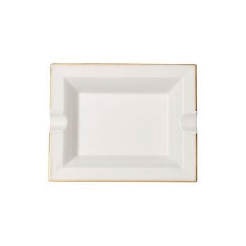 Anmut Gold popielniczka, 17 x 21 cm, biały/złoty