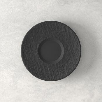 Manufacture Rock spodek do filiżanki do kawy, czarny/szary, 15,5 x 15,5 x 2 cm