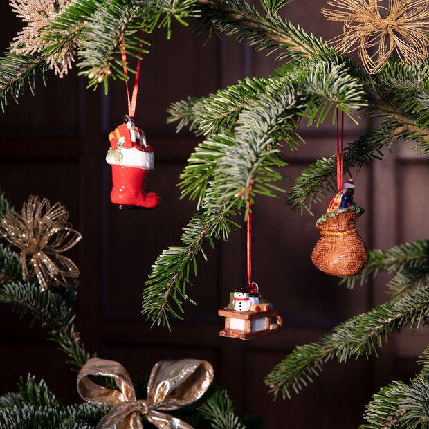 Nostalgic Ornaments zestaw ozdób prezenty, kolorowy, 3-częściowy, 6,3 cm, , large