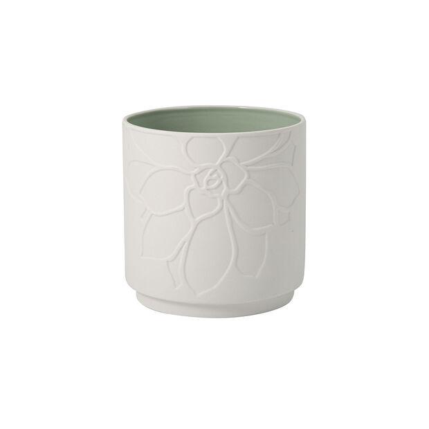 it's my home doniczka Socculent, zielony/biały, , large