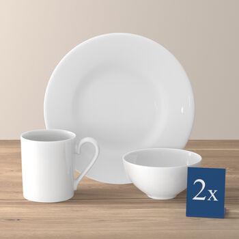 Royal zestaw śniadaniowy dla dwóch osób 6-częściowy