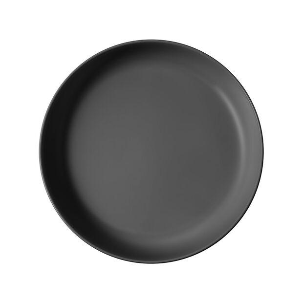 Iconic płytka miska, czarna, 24 x 4 cm, 1,1 l, , large
