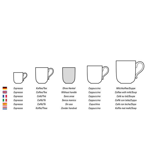 NewMoon filiżanka do kawy, bez ucha, 280 ml, biała, , large