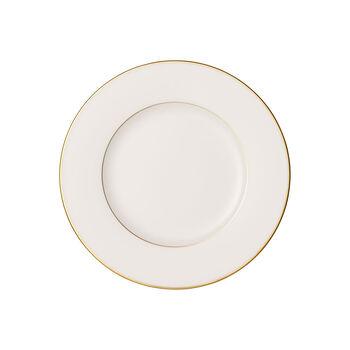 Anmut Gold talerz śniadaniowy, średnica 22 cm, biały/złoty