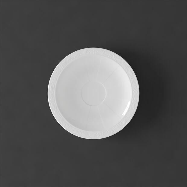 White Pearl spodek do filiżanki do espresso, , large