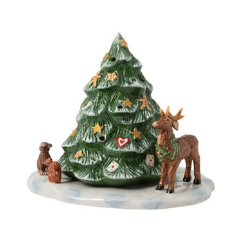 Christmas Toys choinka i leśne zwierzęta, 23 x 17 x 17 cm