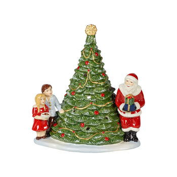 Christmas Toys Św. Mikołaj przy choince 20x17x23cm