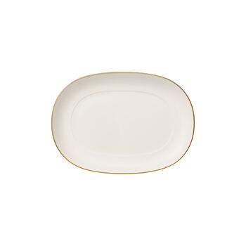 Anmut Gold podstawka do sosjerki, długość 20 cm, biały/złoty