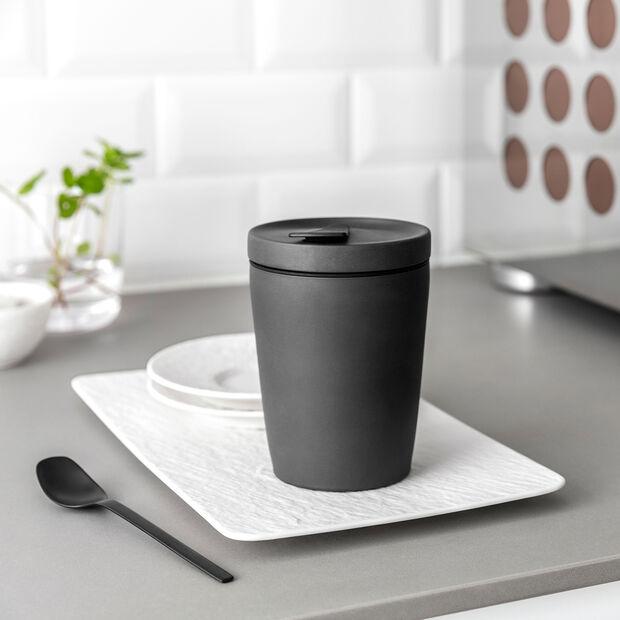 Manufacture Rock kubek do kawy To Go, 290 ml, czarny matowy, , large