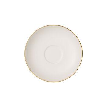 Anmut Gold spodek do filiżanki do mokki i espresso, średnica 12 cm, biały/złoty