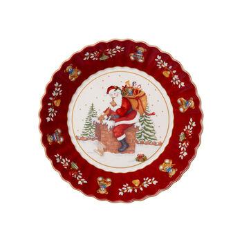 Toy's Fantasy duża miska św. Mikołaj na dachu, czerwona/kolorowa, 25 x 25 x 5 cm