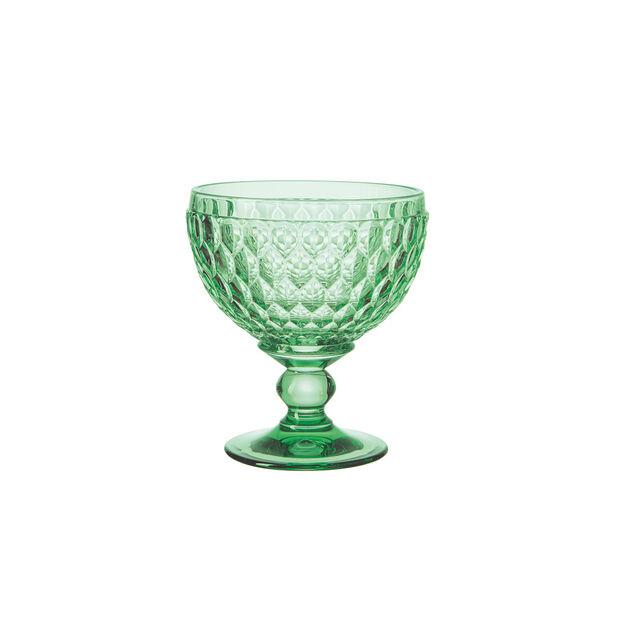 Boston Coloured szampanówka i pucharek, zielony, 12,5 cm, , large