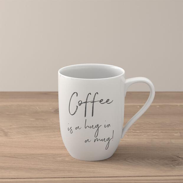 "Statement kubek ""Coffee is a hug in a mug"", , large"