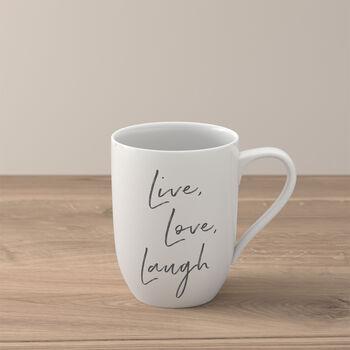 "Statement kubek ""Live Love Laugh"""