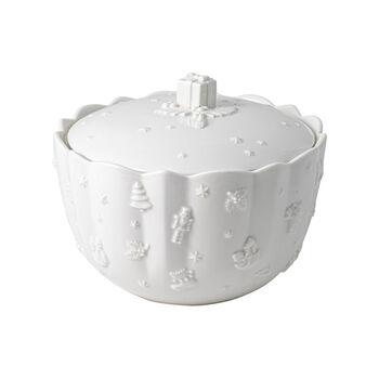 Toy's Delight Royal Classic pojemnik na ciastka, biały, 20 x 15 cm