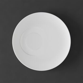 MetroChic blanc Spodek do filiżanki do herbaty 18,5x18,5x2cm
