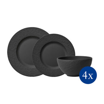 Manufacture Rock Zestaw talerzy, 12-cz., dla 4os.