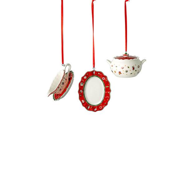 Toy's Delight Decoration zestaw ozdób naczynia do serwowania, 3 x 6 cm, 3-częściowy, , large