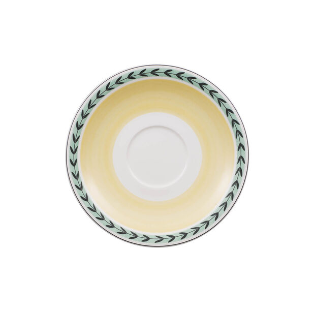 Charm & Breakfast French Garden spodek do dużej filiżanki do kawy z mlekiem 20cm, , large