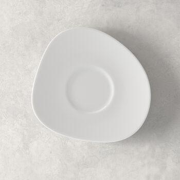 Organic White spodek do filiżanki do kawy, biały, 17,5 cm