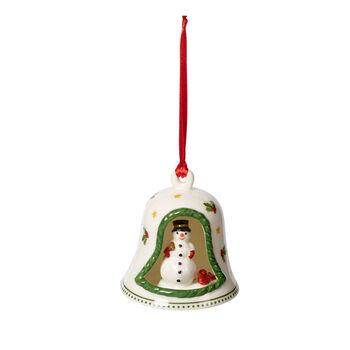 My Christmas Tree dzwonek z bałwankiem, kolorowy, 6 x 6 x 7 cm