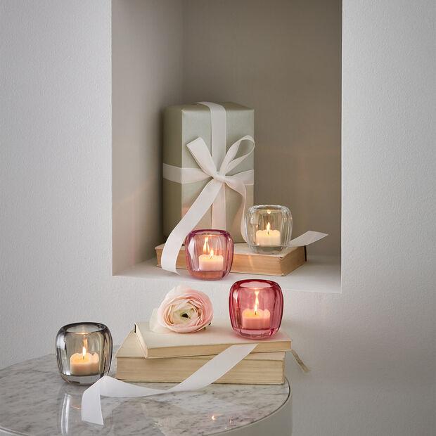 Coloured DeLight mały świecznik na tealight Cosy Grey, , large