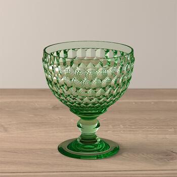 Boston Coloured szampanówka i pucharek, zielony, 12,5 cm