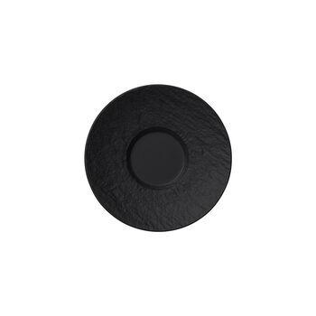 Manufacture Rock spodek do filiżanki do espresso, czarny/szary, 12 x 12 x 2 cm