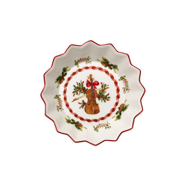 Toy's Fantasy mała miska skrzypce, czerwona/kolorowa, 17 x 17 x 3 cm, , large